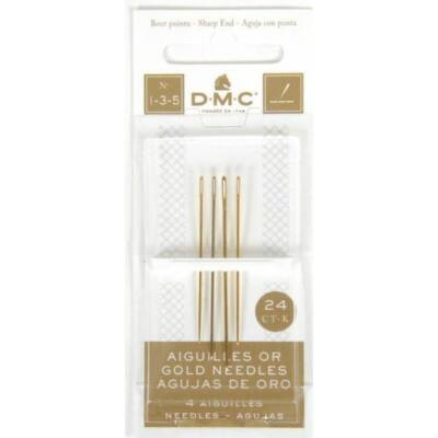 DMC aranyozott hegyes tű1-3-5
