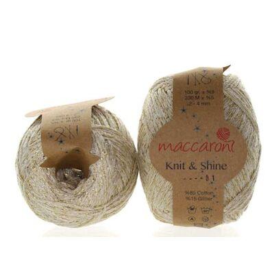 Knit & Shine 1 Csont -arany