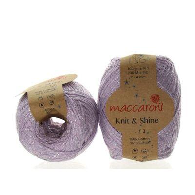 Knit & Shine 13 Lila- gyöngyház