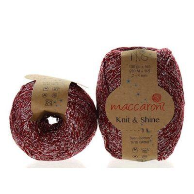 Knit & Shine 9 Bordó- ezüst
